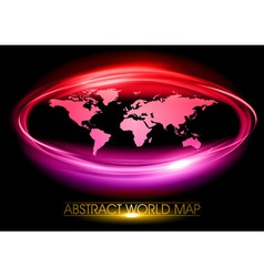 world abstract circle on black purple vector image