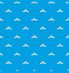 Zombie night pattern seamless blue vector