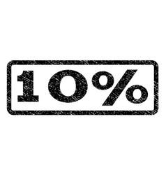 10 percent watermark stamp vector image vector image