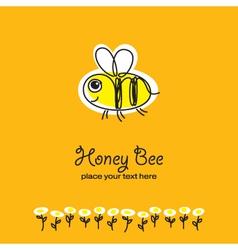 bee sketch vector image vector image