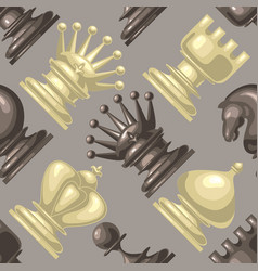 chess piece seamless pattern vector image