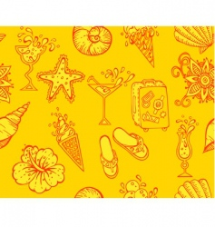 pattern travel vector image vector image