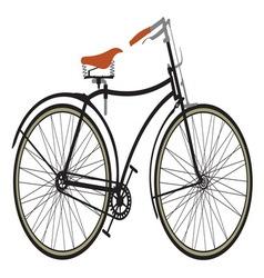 Retro bike1 resize vector image