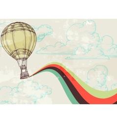 retro hot air balloon vector image