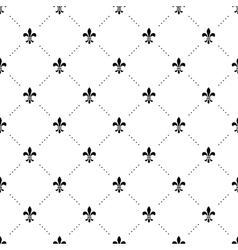 Seamless black and white pattern with king vector image vector image
