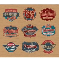 Vintage retro label badges - design element vector image vector image