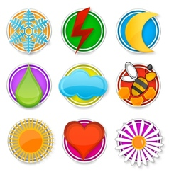 abstract and nature symbols set vector image vector image
