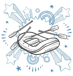 Doodle pop rafting vector