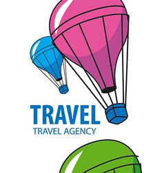 logo balloon flying Travel vector image