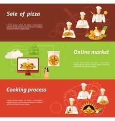Pizza Sale and Cooking Banner vector image vector image