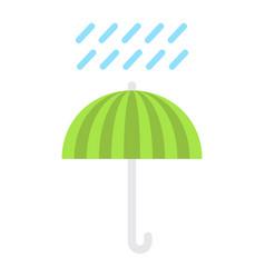 umbrella symbol flat icon logistic vector image