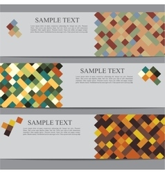 Banners with square background vector