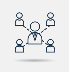 icon of leadership teamwork and cooperation vector image vector image