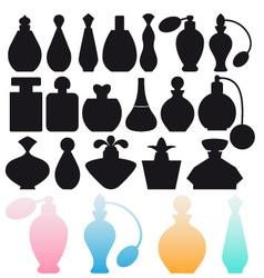 perfume bottles vector image vector image