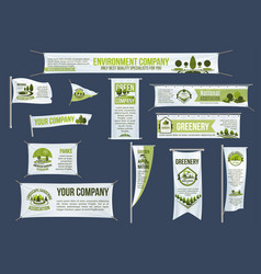 pole and hanging banner template for eco business vector image