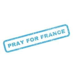 Pray for france rubber stamp vector