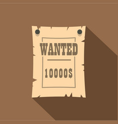 vintage wanted poster icon flat style vector image