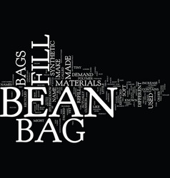 bean bag furniture text background word cloud vector image