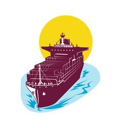 container cargo ship vector image