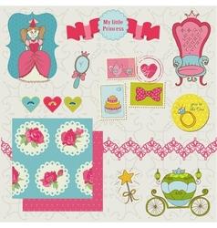 Princess Girl Set vector image vector image