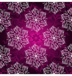 Vintage purple seamless pattern vector image