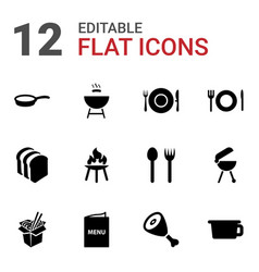 12 cook icons vector
