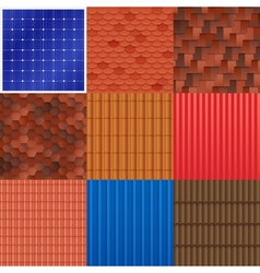 1609i029006fm005c8house roof tile set vector
