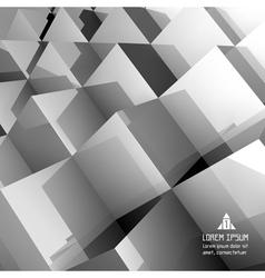 3d blocks structure background vector