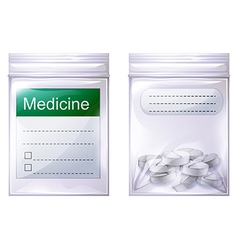 A sealed medicine pouch vector image