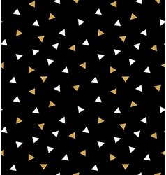 Abstract seamless pattern with triangles in gold vector image