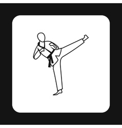 Aikido fighter icon simple style vector image