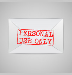 an envelope with a warning sign vector image