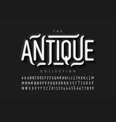 antique style font vector image