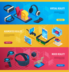 augmented reality isometric virtual reality vector image