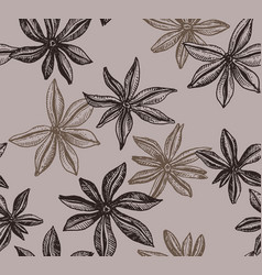 Badian seamless pattern vector