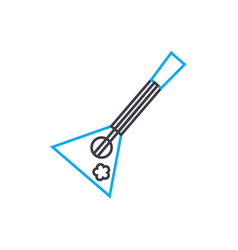 balalaika linear icon concept balalaika line vector image