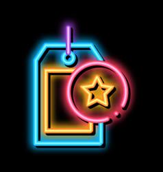 Bonus label concept neon glow icon vector