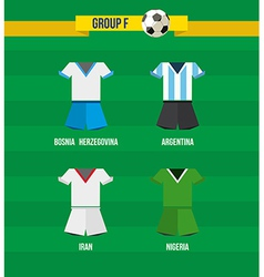 Brazil Soccer Championship 2014 Group F team vector image