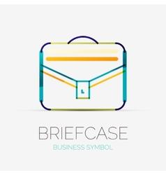 Briefcase icon company logo business concept vector