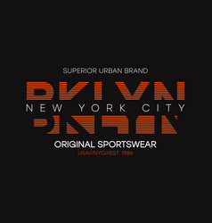 Brooklyn new york t-shirt design typography vector