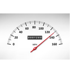 Car speedometer with speed level scale isolated on vector