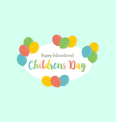card style for childrens day vector image