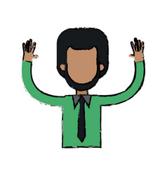 Character man waving hand people image vector