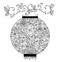 Chinese lantern zentagle vector image