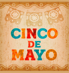 Cinco de mayo mexican holiday quote greeting card vector