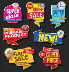 collection sale discount and promotion banners vector image