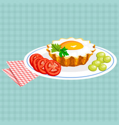 Colorful of tasty breakfast vector