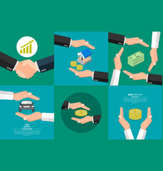 concept of insurance of money vector image