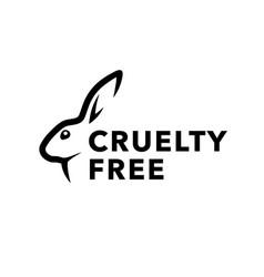 Cruelty free icon design with rabbit symbol vector
