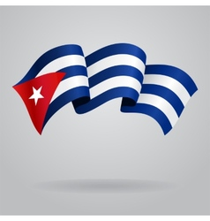 Cuban waving flag vector